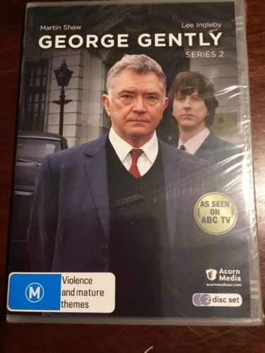 GEORGE GENTLY Series 2 Martin Shaw 2 New Sealed DVDs R All PAL