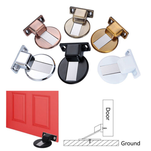 Anti-collision Floor Mounted Holder Door Stopper Stop Catch Magnetic Invisible Y