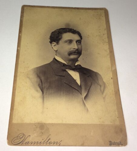 Rare Antique ID'D Victorian American Man, William Rogers! Detroit Cabinet Photo!