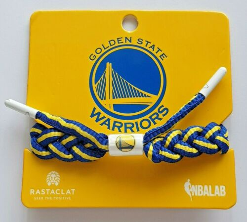 Rastaclat Golden State Warriors Bracelet Blue and Yellow shoelace