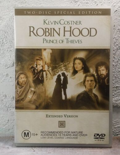 Robin Hood Prince Of Thieves (DVD) - Extended Version 1991  Kevin Costner - R4