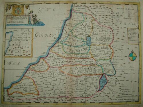 A New Map of the Land of Canaan William Duke of Glocester antique Holy Land