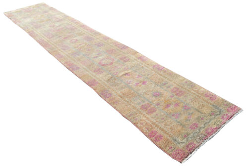 3x15 Rug Runner Kurdish Rug Hand Knotted Low Pile Long Runner Actual 2.9x14.9ft