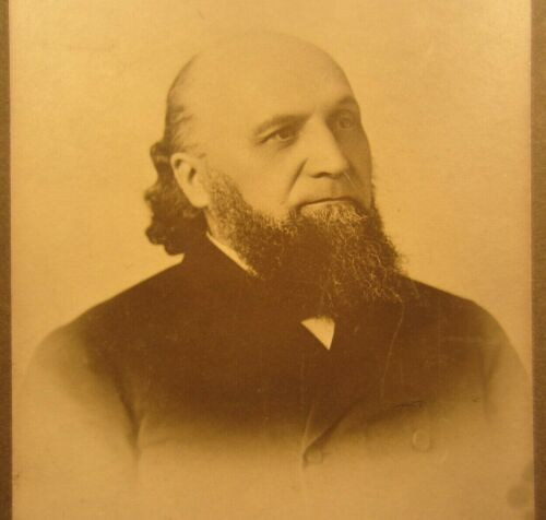 Victorian Antique Cabinet Card Photo of an Older Man