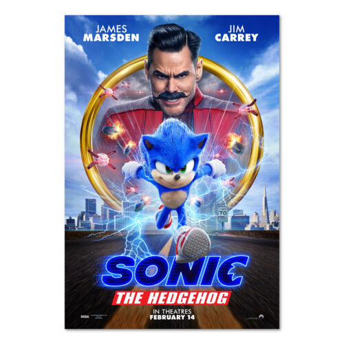 Sonic the Hedgehog 2020 Movie Poster - Official Art - High Quality Prints