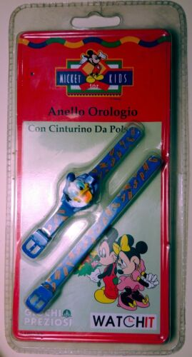Donald Duck Mickey for kids watch vintage  orologio dito polso ring Paperino