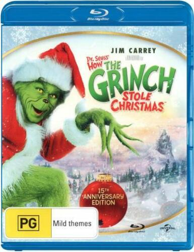 How the Grinch Stole Christmas (2000) (Dr Seuss') (15t  - BLU-RAY - NEW Region B