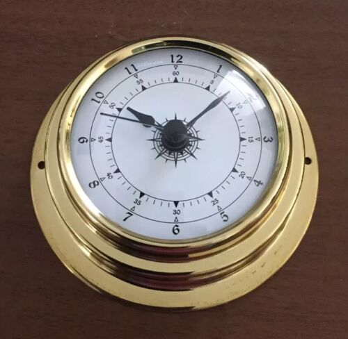 70mm Brass  enclosed clock On Special $40