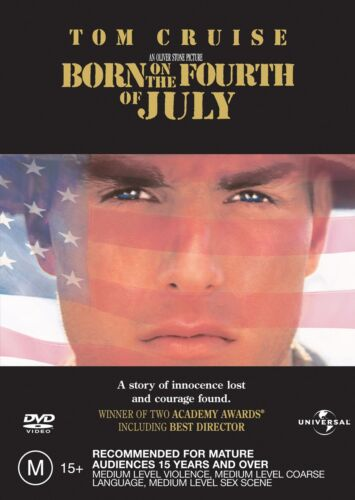 Born On the Fourth of July DVD Region 4 NEW