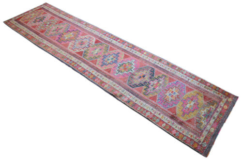 3x13 Rug Runner OUSHAK Rug Hand Knotted Low Pile Kitchen rug Actual 3.1 x12.9 ft