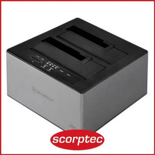 SilverStone TS12C 2.5in/3.5in SATA Dual HDD Docking Station, Type-C