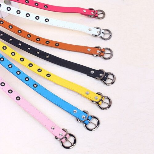 Candy Color Toddler Baby Kids Boys Girl Adjustable PU Leather Belts Waistbands