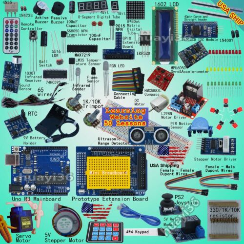 EPAL Professional Starter Kit (Arduino UNO -Compatible) Compass Gyro Processing <br/> 50+ most detailed lessons, High Quality,Tech support
