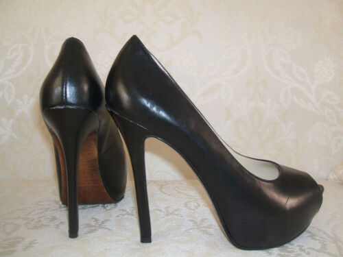 RP £90 ENZO ANGIOLINI TANEN SIZE 3.5  BLACK PATENT REAL LEATHER COURT SHOES BNWB