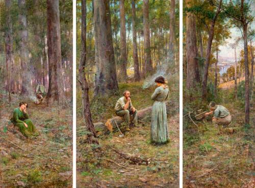 "Canvas Prints Frederick McCubbin Painting ""The Pioneer""  Framed & Ready to Hang"