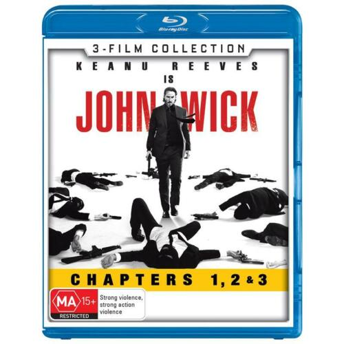 John Wick 3 Film Collection Chapters 1,2 & 3 Blu-ray BRAND NEW Region B