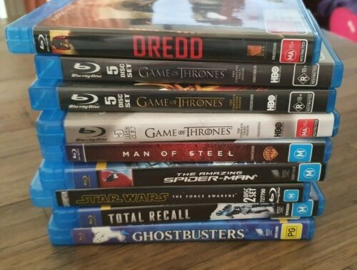 Various Blu-rays - Some 4K, some multiple discs (refer picture & drop-down list)