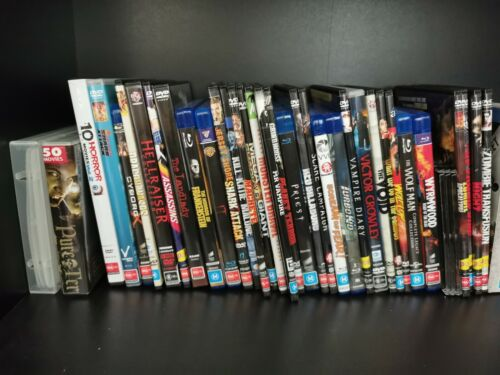 Various DVD's & Blu-Ray Region 4 & B Horror Action Zombie Monster TV Like New