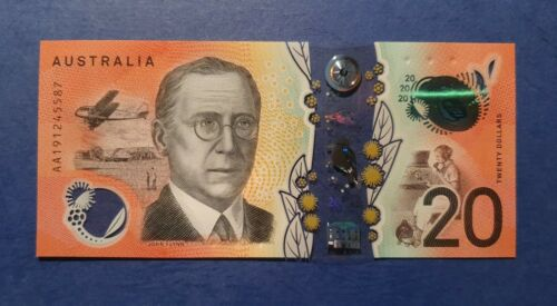 1 x New Uncirculated AA19 FIRST Prefix $20 Note - Australia 2019 - Unc