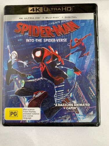 NEW Spider-Man : Into The Spider-Verse  Ultra HD (4K) Blu-Ray + Digital Sealed