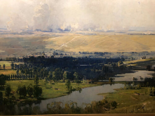 Arthur Streeton - The Somme Valley  Canvas Prints  Framed & Ready to Hang