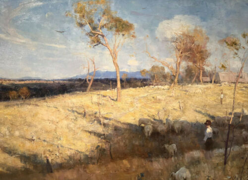 Arthur Streeton - Golden Summer 1889  Canvas Prints  Framed & Ready to Hang