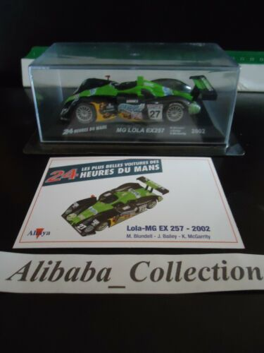 Voiture LOLA MG EX 257 2002 1:43e miniature 24 heures Mans 24H ALTAYA hours