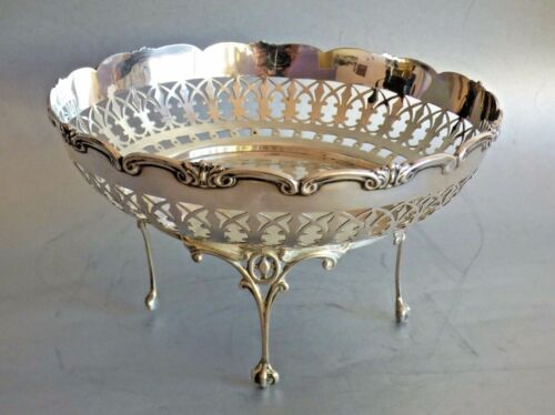 Antique British Silver Sterling Tray Basket Ornament