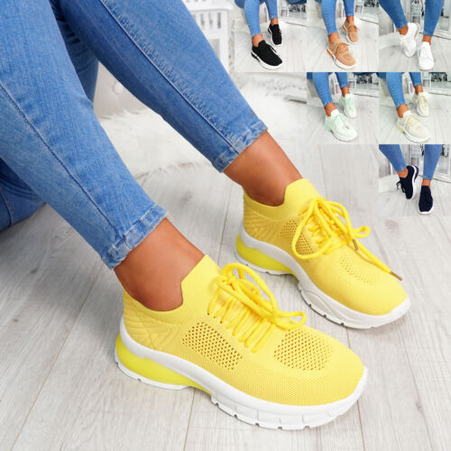 WOMENS LADIES LACE UP SPORT CHUNKY TRAINERS WOMEN SNEAKERS PARTY SHOES SIZE