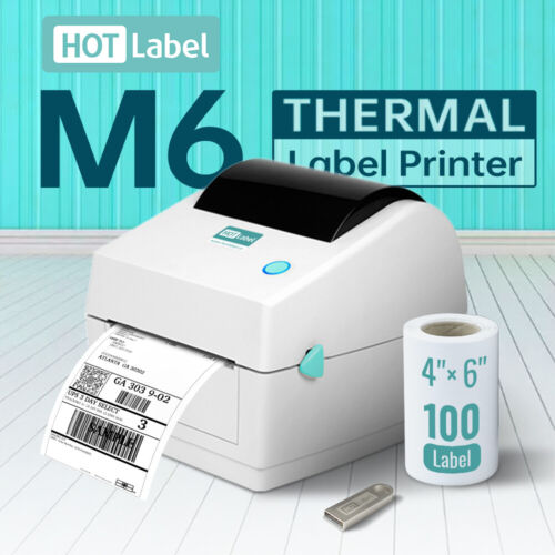 【Simple & Durable】Label Printer Thermal Shipping Address Barcode 4*6 150mm*100mm <br/> Support Mac 🍏 and Windows