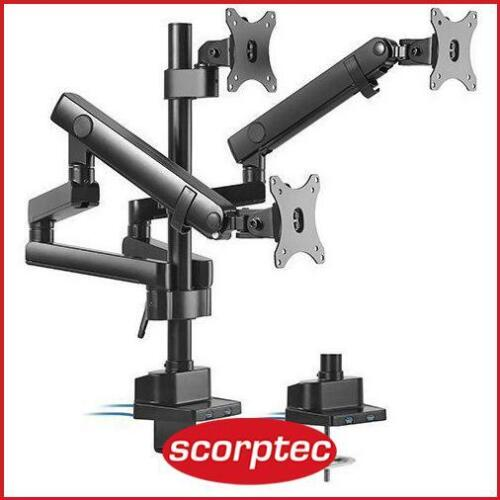 Brateck LDT20-C036UP Triple Monitor Spring Arm