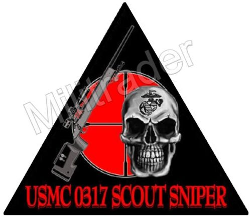 United States Marine Corps (USMC) 0317 Scout Sniper DecalMarine Corps - 66531