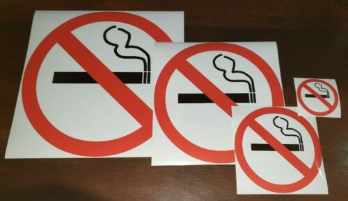 No Smoking Sticker Sign **choose Your Size**  Adhesive Vinyl Made In Usa