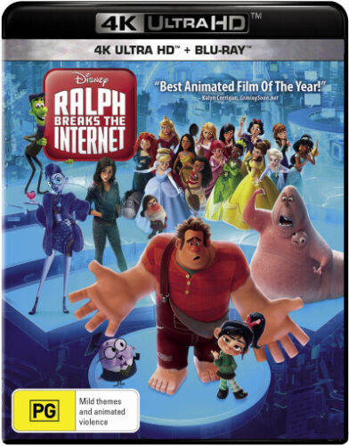Ralph Breaks the Internet (4K UHD / Blu-ray)  - BLU-RAY - NEW Region B