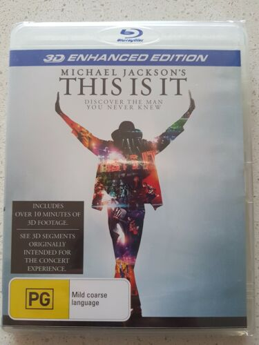 "MICHAEL JACKSON ""THIS IS IT"" 3D Enhanced Edition BLU-RAY  DISC   ""PICK UP ONLY"""