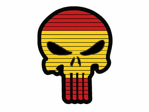PARCHE PATCH SKULL ESPAÑA PVC SPAIN AIRSOFT 3D PUNISHER VELCRO® 55x45mmParches - 4725