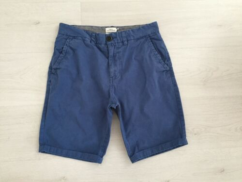 MENS NEXT CHINO SHORTS W30 100% COTTON DARK BLUE ZIP FLY HOLIDAY