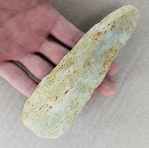 5.3 inch STUNNING Long  SandStone Adzes Laos PDR Neolithic [pp136]