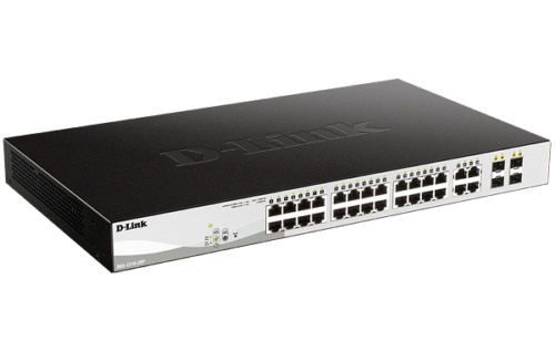 28 Port D-Link DES-1210-28P 10/100Mbps Layer 2 Managed PoE/PoE+ Switch with 4 Gi