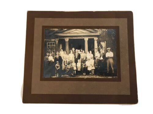 Vintage 1920s Sepia Photograph of Multi Generation Family