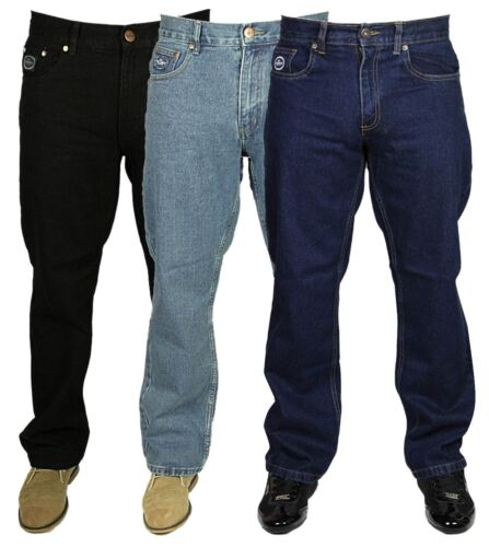 New Mens Branded Jeans Work Smart Casual Pants Jeans In Blue Black Sizes 30-60