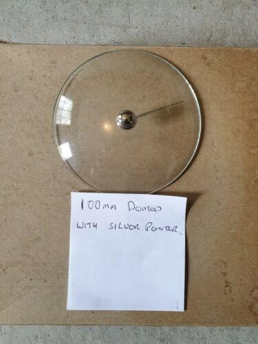 Barometer replacement glass - 100mm domed with silver pointer knob