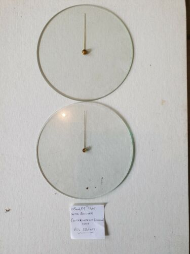 """Barometer replacement glass - 215mm (8.5"""") Flat with pointer"""
