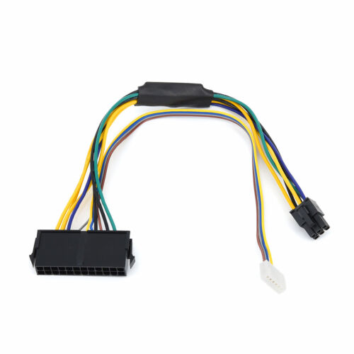 1x  ATX Main 24-Pin To 6-Pin PSU Power Adapter Cable Wire 18AWG For HP Z220/Z230