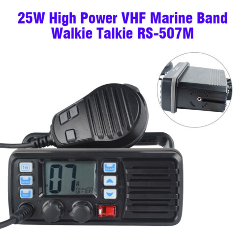 RS-507M 25W VHF FM DCS Boat Ham 2 Way Mobile Radio Transceiver Call Auto-answer