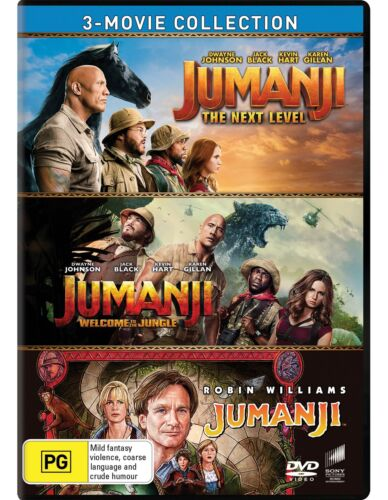 Jumanji / Welcome to the Jungle / The Next Level Box Set DVD Region 4 NEW
