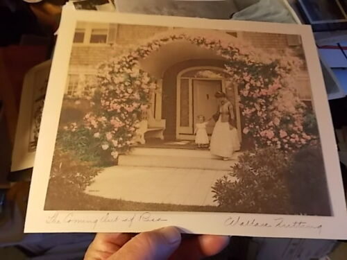 """VINT HAND TINTED WALLACE NUTTING CABINET PHOTO, """"THE COMING OUT OF ROSA"""""""