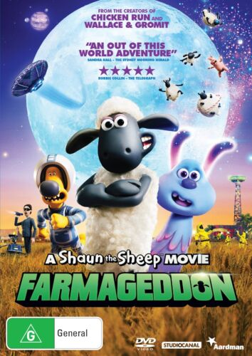A Shaun the Sheep Movie Farmageddon DVD Region 4 NEW // PRE-ORDER <br/> *** PRE-ORDER *** EXPECTED DELIVERY DATE 22/04/2020 ***