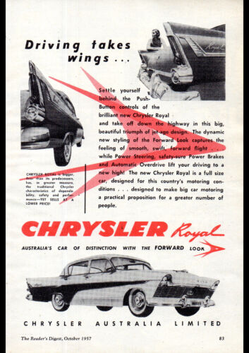 "1959 AP2 CHRYSLER ROYAL SEDAN AD PRINT WALL POSTER PICTURE 33.1/""x23.4/"""
