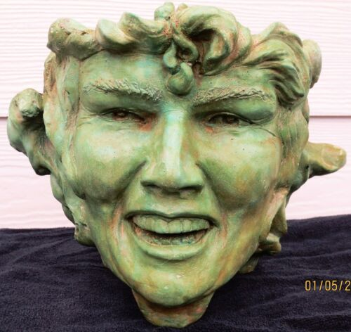 Unique Handmade Green Goddess Sculpted Plant Pot, by Claybraven